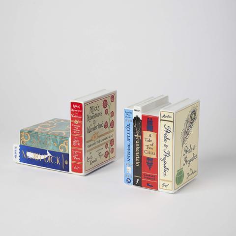 Bibliophile Ceramic Bookends