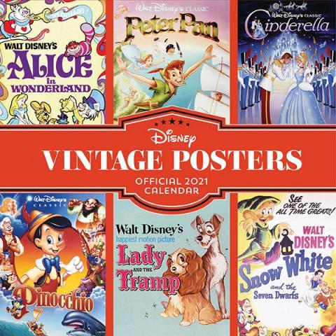 Disney Vintage Posters Official 2021 Calendar