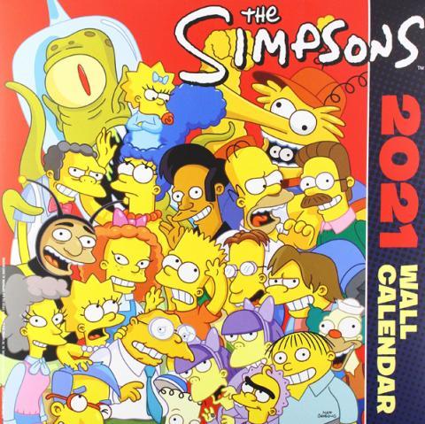 Simpsons Wall Calendar 2021
