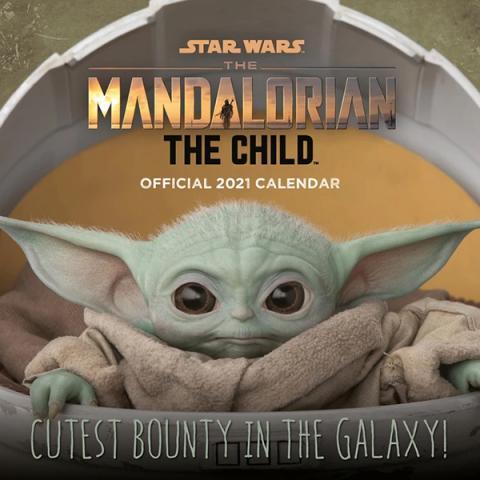 Star Wars Mandalorian The Child Baby Yoda 2021 Wall Calendar