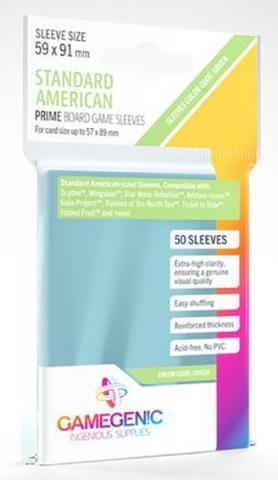 Standard American Board Game Matte Sleeves 59x91mm