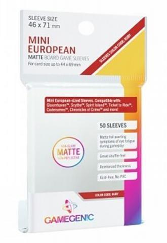 Mini European Matte Sleeves 46x71mm