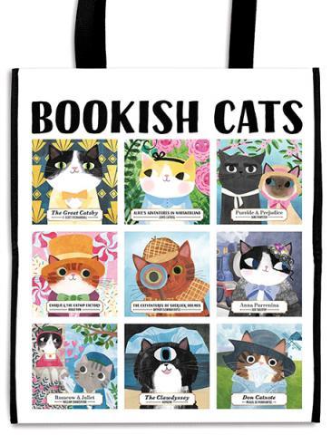 Bookish Cats Reusable Shopping Bag