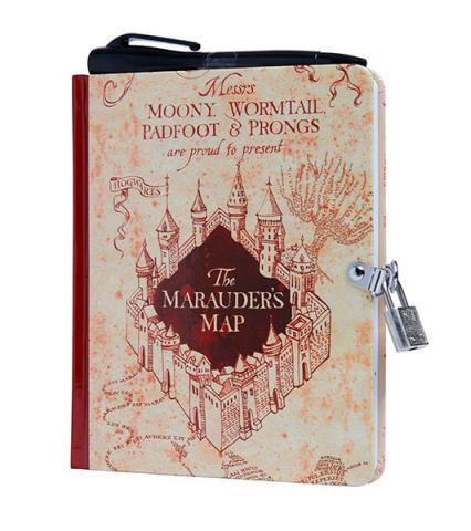 Marauder's Map Lock & Key Diary