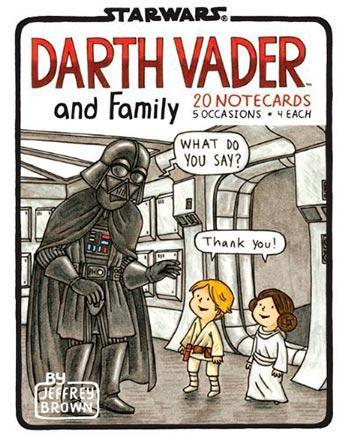 Darth Vader and Family Notecards Book