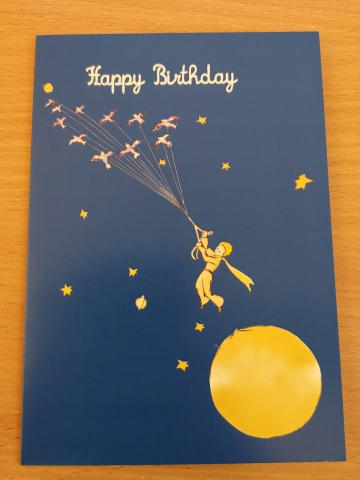 Little Prince Birds Happy Birthday Card