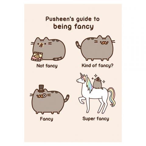 Pusheen Fancy Card