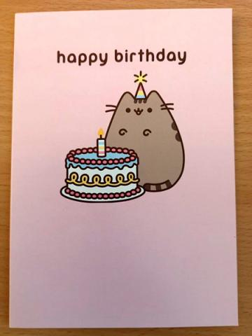 Pusheen HB Cake Card