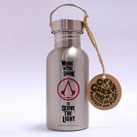 Work in the Dark Stainless Steel Eco Bottle Logo