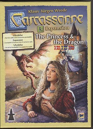 Carcassonne expansion 3 - Princess & Dragon (svensk)