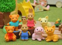 Teddy Bear, Rabbit & Dog