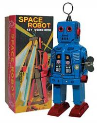 Space Robot Blue Key Wound Motor