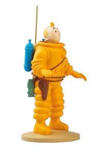 Figur 12 cm resin Tintin kosmonaut