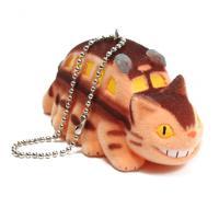 Flocking Key Chain Catbus Totoro