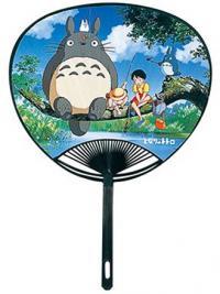 Totoro Sitting on a Branch blue fan