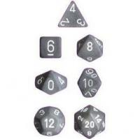 Frosted Smoke/White (set of 7 dice)
