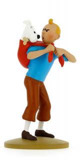 Figur 12 cm resin Tintin bär Milou