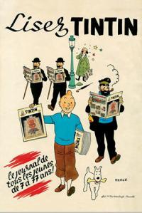 Affisch - Lisez Tintin