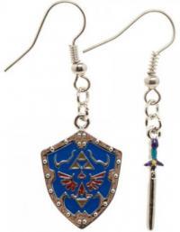 Zelda - Master Sword & Hylian Shield Earring