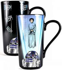 Heat Change Latte-Macchiato Mug R2-D2 & Leia