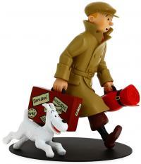 Samlarfigur - Tintin & Milou anländer