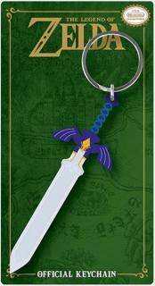 Legend of Zelda Master Sword Rubber Keychain