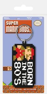 Super Mario Bros. Rubber Keychain Born in the 80's 6 cm