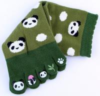 Panda five-toe socks