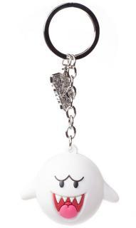 Super Mario Rubber Keychain Boo