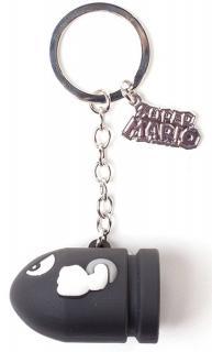 Super Mario Rubber Keychain Bullet Bill 850296c54ed2e