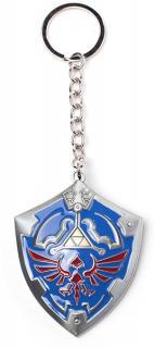 The Legend of Zelda 3D Metal Keychain Hylian Shield