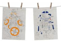 Star Wars Episode VIII Tea Towel 2-Set Droids Exploded View