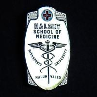 Varsity pin: Halsey School of Medicine