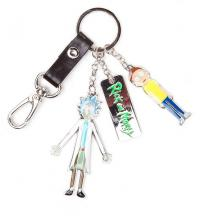 Rick & Morty Metal Keychain Character Charms 7 cm