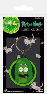 Rubber Keychain Pickle Rick 6 cm