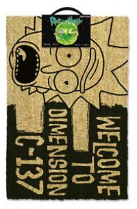 Rick and Morty Dimension C-137 Black Doormat 40 x 57 cm