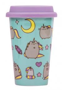 Pusheen Ceramic Travel Mug Pattern