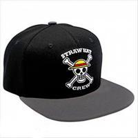 Snapback Cap Black & Grey Skull