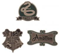 Harry Potter Slytherin Lapel Pin Set 3-Pack