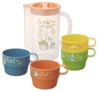 Totoro jug with mugs