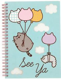 Pusheen Notebook A5 Glitter Balloons