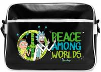 Rick and Morty Peace Vinyl Messenger Bag