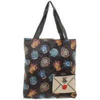 Harry Potter Shopping Tote Bag Crests and Letter