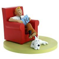 Samlarfigur - Tintin i röd fåtölj