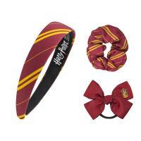 Harry Potter Headband Scrunchy Bow Set Gryffindor