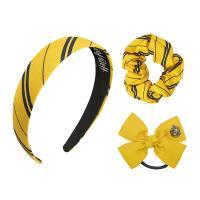 Harry Potter Headband Scrunchy Bow Set Hufflepuff