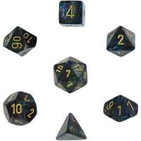 Lustrous Shadow with Gold (set of 7 dice)