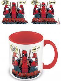 Deadpool Coloured Inner Mug 2 Thumbs