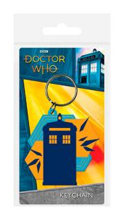 Rubber Keychain Tardis Shapes 6 cm
