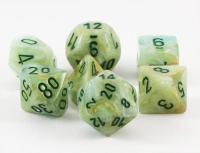 Marble Green/Dark Green (set of 7 dice)